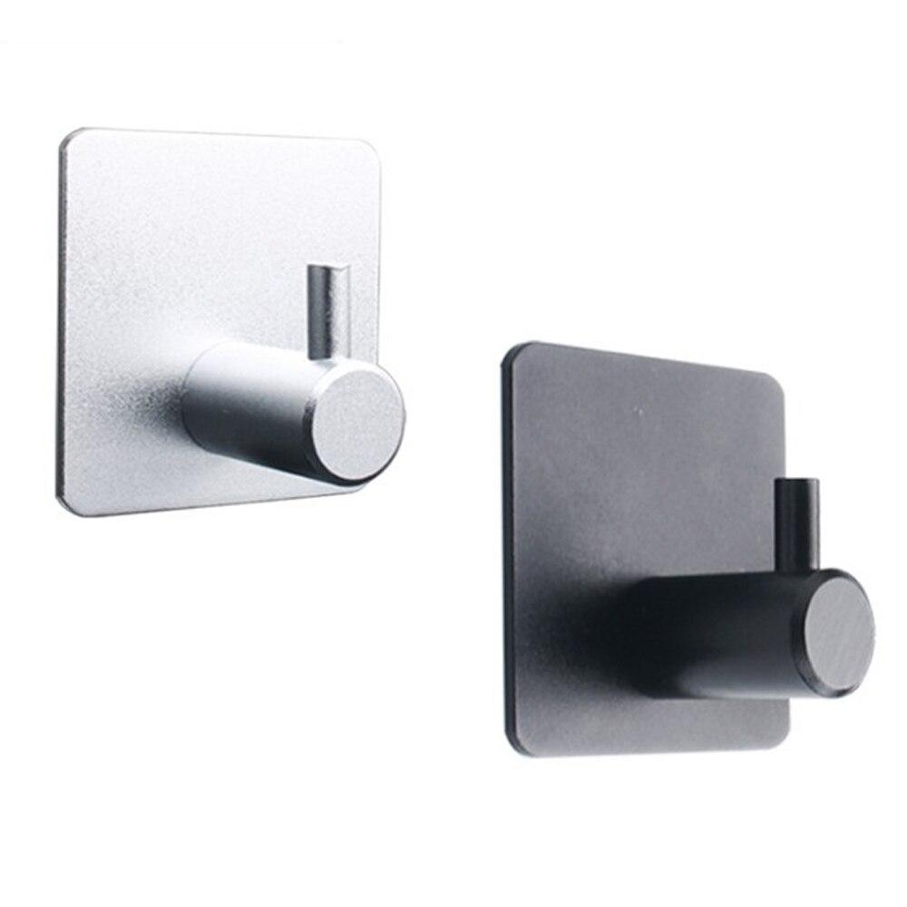 Self Adhesive Home Kitchen Wall Door Hook Key Rack Bag Towel Hanger Aluminum Handbag Holder Hooks For Hanging Kitchen Bathroom