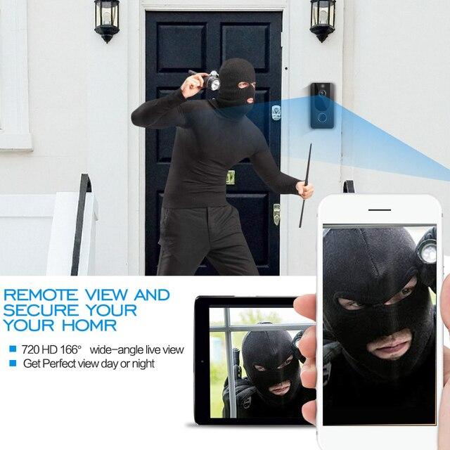 QZT bezprzewodowa inteligentna kamera do drzwi frontowych Night Vision domofon dzwonek z kamerą wideo Wifi inteligentny dzwonek do drzwi wejściowych z kamerą 1080P