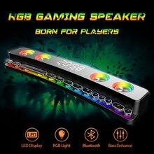 Soundbar Subwoofer Bluetooth Speaker Home Theater Computer Fm-Radio Desktop RGB Led-Display