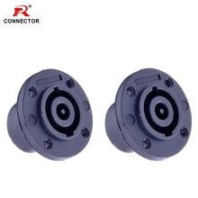 4pcs Base Speak Connector Female 8Pin NL8MP Loudspeaker Amplifier speak power female panel mounted jack