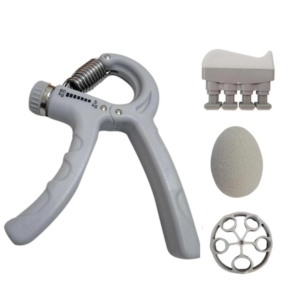 Hand Grip Strengthener Kit Exercise Workout Gripper Adjustable Finger Fitness