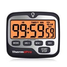ThermoPro – minuterie de cuisine numérique TM01, avec grand écran rétroéclairé, compte à rebours et fonction d'horloge