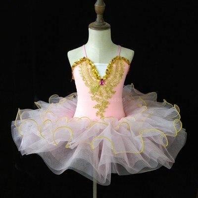 Г. Детское балетное платье Пушистый костюм платье принцессы платье для танцев с изображением маленького лебедя платье для выступлений для девочек, Costumeflower, платья для девочек - Цвет: Pink