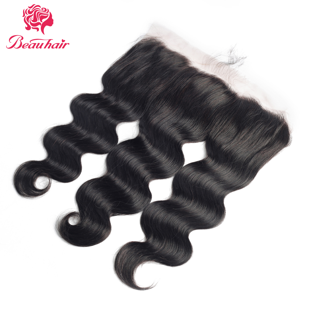 Body Wave Lace Frontal With Baby Hair Brazilian Lace Closure 13x4 Ear To Ear Lace Frontal Closure Non-Remy Human Hair For Women