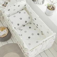 Детский набор постельных принадлежностей розовый моющийся бампер для новорожденных кроватки пододеяльник детская кроватка простыня наволочка для девочек и мальчиков набор постельных принадлежностей для малышей