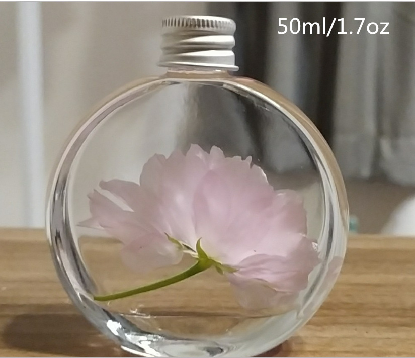 5 Pcs 50ml 100ml  Perfume Bottle Glass Aromatherapy Containers Oil Household Lasting Incense Purify Atmosphere Free Shipping