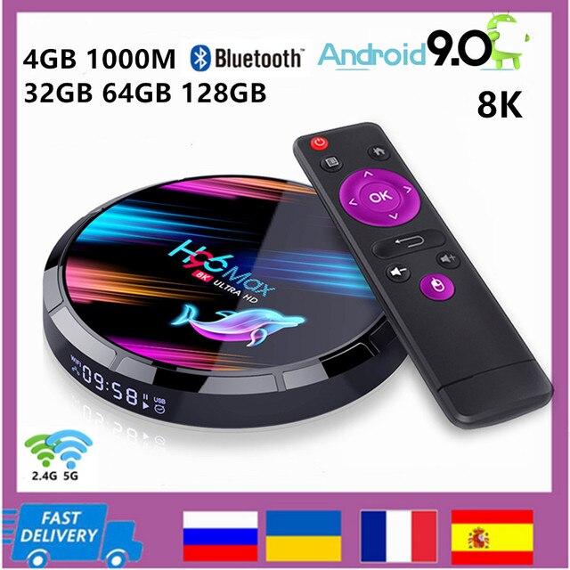スマートテレビボックスアンドロイド9.0 4ギガバイト32ギガバイト64ギガバイト128ギガバイト8 18k H.265メディアプレーヤーサポート3Dビデオ無線lan 1000メートルのbluetooth 4.0ミニセットトップボックス,Amlogic S905X364ビットクアッドコアサポートYoutube