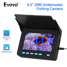 Eyoyo Portable 1000TVL 4.3inch Fish Finder Underwater Camera Night Fishing Visual Detector 8pcs IR LED Ice
