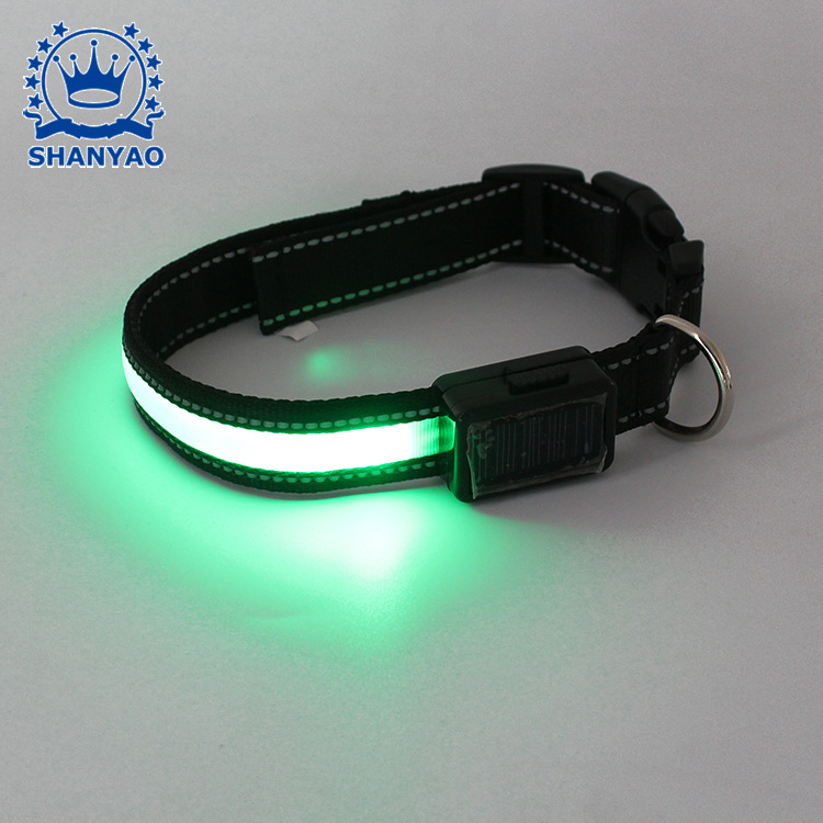 LED Solar Charging Pet Collar Dog Hand Holding Rope Supporting Supplies Dongguan Shining Gift