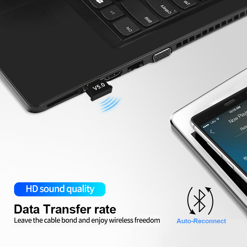 Wireless USB Bluetooth 5.0 4.0 Adapter Transmitter Music Receiver MINI BT5.0 Dongle Audio Adapter for Computer PC Laptop Tablet 5