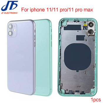 10 sztuk wymiana obudowy tylnej obudowy dla iphone 11 Pro max 11Pro szkło tylne drzwi obudowy z ramą i tacą sim tanie i dobre opinie Jfphoneparts CN (pochodzenie) Metal For iphone Apple iPhone IPHONE XS MAX