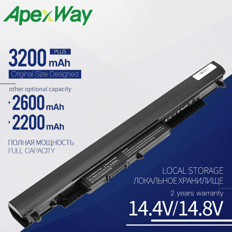Apexway Laptop Battery For HP HSTNN-LB6U HSTNN-LB6V 807957-001 HS03 HS04 240 245 250 G4 14-ac0XX 15-ac0XX HSTNN LB6U Notebook PC