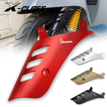 Motorcycle Front Wheel Rocker Shock Absorber Side Cover Protector Red CNC Aluminum for VESPA GTS 125 200 300 2013   2019 2020
