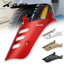 Motorfiets Voorwiel Rocker Schokdemper Side Cover Protector Red Cnc Aluminium Voor Vespa Gts 125 200 300 2013   2019 2020