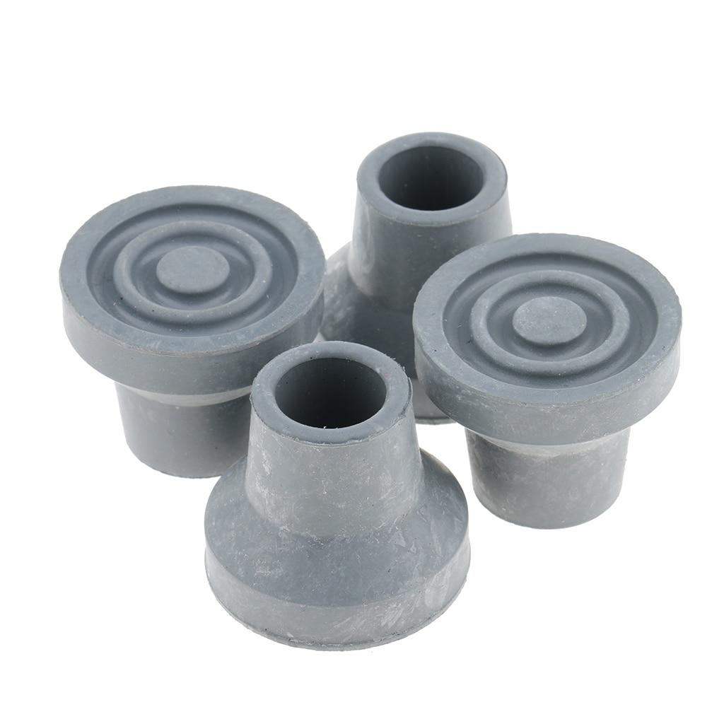 4 pcs Non Slip Walking Stick Ferrules Rubber Cane Crutch Bottom Ends 16mm