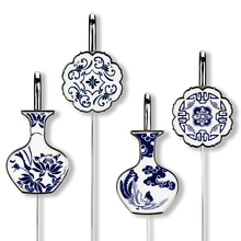 Porcelain Pendant Gift Set Foreign Affairs Exhibition Metal Exquisite Student Little