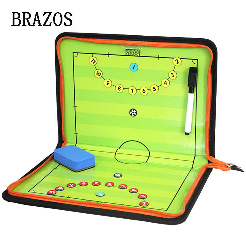 Zipper Futsal Magnetic Tactic Board Football Tactical Board Soccer Futsal Ball Game Portable Football Coach Voetbal Training