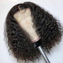 Вода + волна + короткие + боб + парик + 13x5x2 + шнурок + фронт + парик + прозрачный + шнурок + фронтальный + парики + боб + парик + T + часть + бразильский + Реми + человеческий + волосы + парики + 130% 25