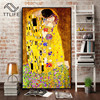 Abstract Artist Gustav Klimt Kiss Classic Oil Painting on Canvas Print Poster Modern Art Wall Pictures for Living Room Cuadros 2