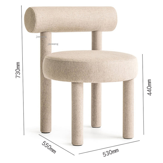 Wood Dining Chairs w/ Backrest  6