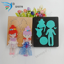 girl with powder clothes new wooden mould cutting dies for scrapbooking S1078