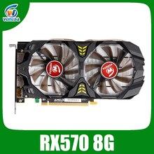 بطاقة فيديو Veineda Radeon RX 570 سعة 8 جيجابايت 256Bit GDDR5 1244/6000 ميجاهرتز بطاقة جرافيكس للالعاب من نوع nVIDIA Geforce rx 570 سعة 8 جيجابايت