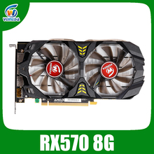 Veineda Video Card Radeon RX 570 8GB 256Bit GDDR5 1244/6000MHz Graphics Card PC Gaming for nVIDIA Geforce Games rx 570 8gb