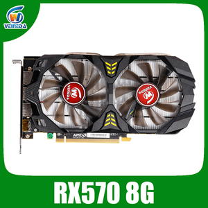 Image 1 - Veineda Video Card Radeon RX 570 8GB 256Bit GDDR5 1244/6000MHz Graphics Card PC Gaming for nVIDIA Geforce Games rx 570 8gb
