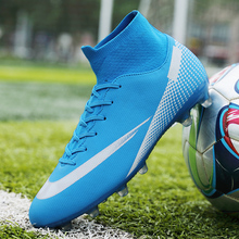 Men's Football Shoes Non-slip Children Boys Girls Outdoor Football Cleat Shoes TF/FG Ankle Boots Football Shoes
