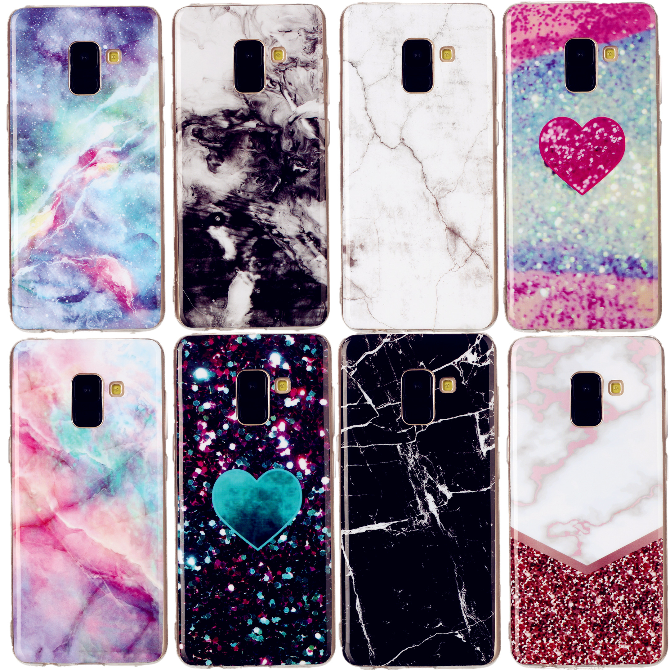 Smooth Marble Case For Samsung Galaxy M10 M20 M30 A62018 <font><b>A82018</b></font> J2prime J32017 J52017 J4PLUS Soft TPU Silicone Back Cover Case image