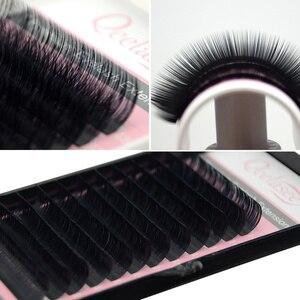 Image 4 - Qeelasee 5pcs/lot mink individual eyelash extension makeup eyelashes maquiagem cilios Korea material 8 18mm available faux cils