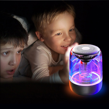 C7 Transparent Crystal Bluetooth Speaker LED Colorful Atmosphere Light HIFI Stereo TWS with Mic - discount item  30% OFF Portable Audio & Video