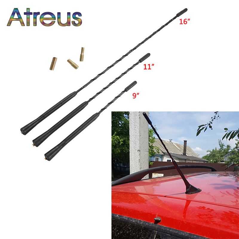 Car Roof Whip Stereo Radio FM/AM Signal Amplified Antenna For <font><b>Mercedes</b></font> <font><b>Benz</b></font> <font><b>W140</b></font> W124 W202 W210 Audi A1 A3 A4 B5 B6 A5 A6 C5 C4 image