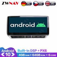 Radio Multimedia PX6 con GPS para coche, Radio con reproductor DVD, Android 10, 4 + 64GB, DSP, navegador, para Nissan Tenna, sylphy 2019, 2020