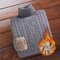 Мужской утеплённый свитер с высоким воротником 1