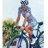Tres pinas das mulheres verão manga curta jérsei define 20d gel almofada bib shorts trajes mujer ciclismo wear feminino bycicle wear 24