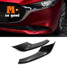 2019 2020 Accessories Car Front Fog Lampshade Light Decorative Strip Cover Trim Sticker Car Styling Chrome for Mazda 3 Axela car styling chrome front fog light taillight trim cover strip sticker for toyota chr c hr accessories 2019 2018 car accessories