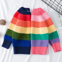 Chłopięce dziewczęce paski bluzki z dzianiny swetry stroje świąteczne Baby Boy zimowe grube odzież z dzianiny dziewczęce swetry tanie tanio campure Na co dzień spandex COTTON REGULAR Dzieci Pasuje prawda na wymiar weź swój normalny rozmiar Unisex Pełna NONE