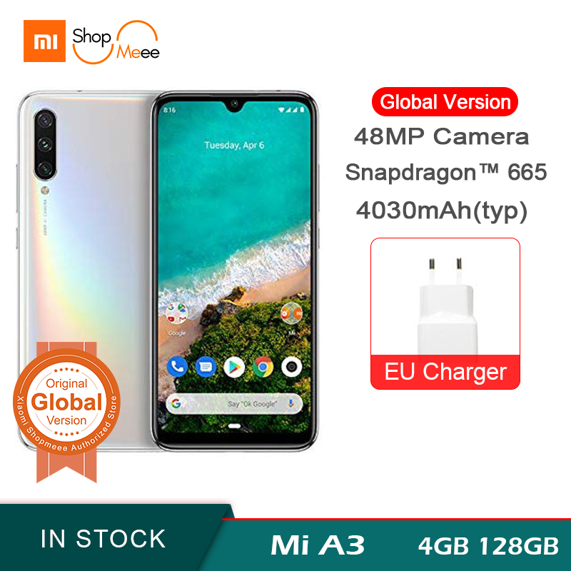Global Version Xiaomi Mi A3 Smartphone 64GB 128GB Snapdragon 665 Octa Core 48MP Triple Camera 4030mAh 6.088