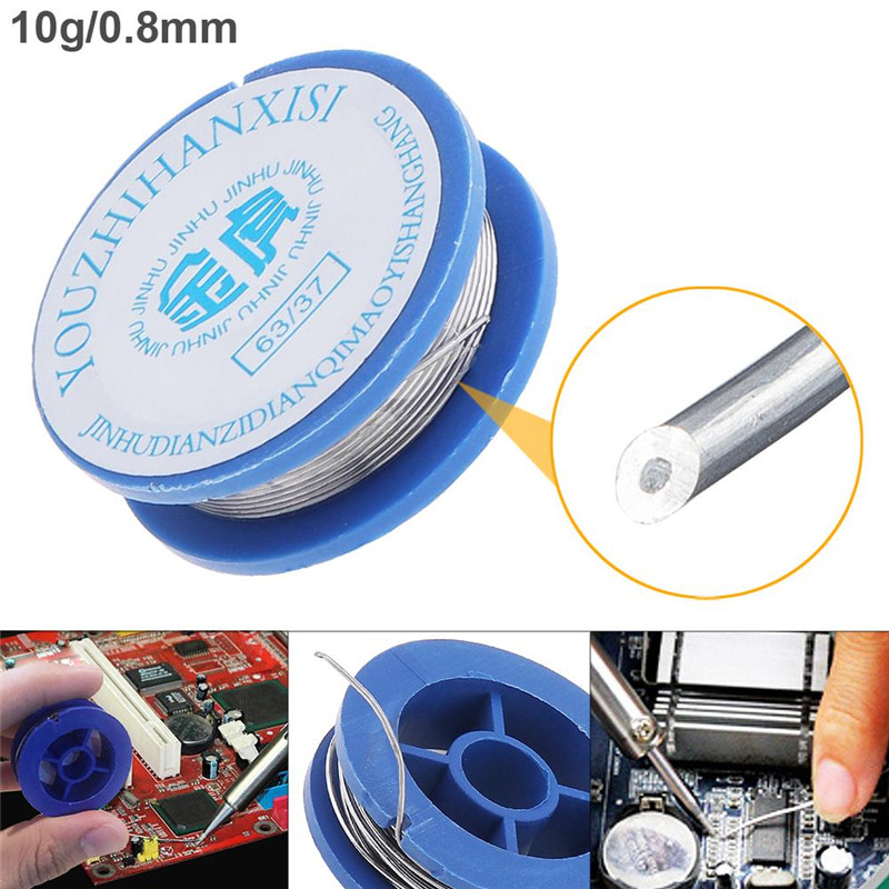 Smilemango 2% Flux 63/37 10g 0.8mm High Purity Rosin Core Solder Wire with Low Melting Point for Electric Soldering Iron