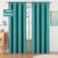 Cortinas opacas de doble cara de cáñamo para 100%, Color sólido de alta calidad para sala de estar, dormitorio, ventana, tamaño personalizado 300x280