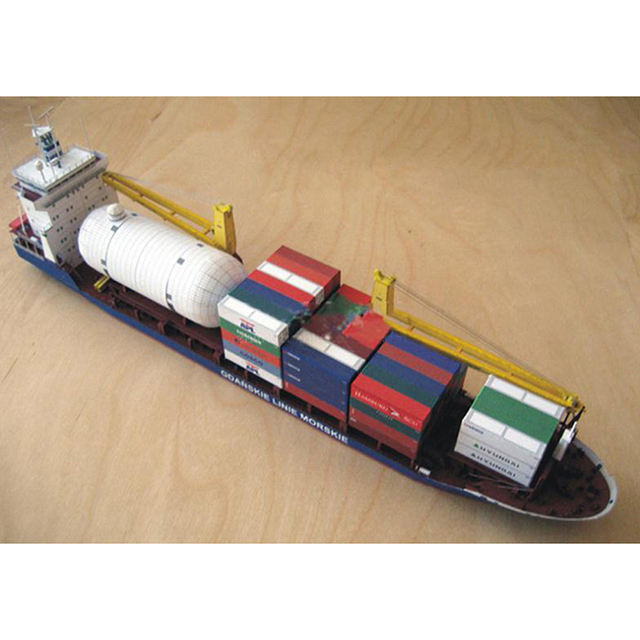New 1:400 Gdansk Cargo Ship DIY Handcraft 3D Paper Card Model Sets MYPANDA 5