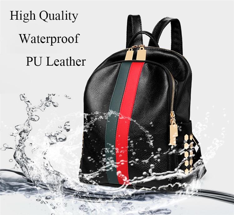 H890a76d5db4d401c9f60a941c612c72cd Luxury Famous Brand Designer Women PU Leather Backpack Female Casual Shoulders Bag Teenager School Bag Fashion Women's Bags