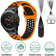 26/22mm pulseira para garmin fenix 6 6x pro 5 5x plus 3hr mk1 pulseira de silicone easyfit pulseira de pulso acessórios de instalação rápida