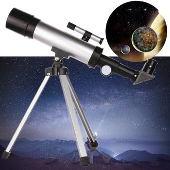 Telescopio tubo astronómico de 360x50mm, Refractor, Monocular, telescopio con trípode, telescópico, profesional, Camping
