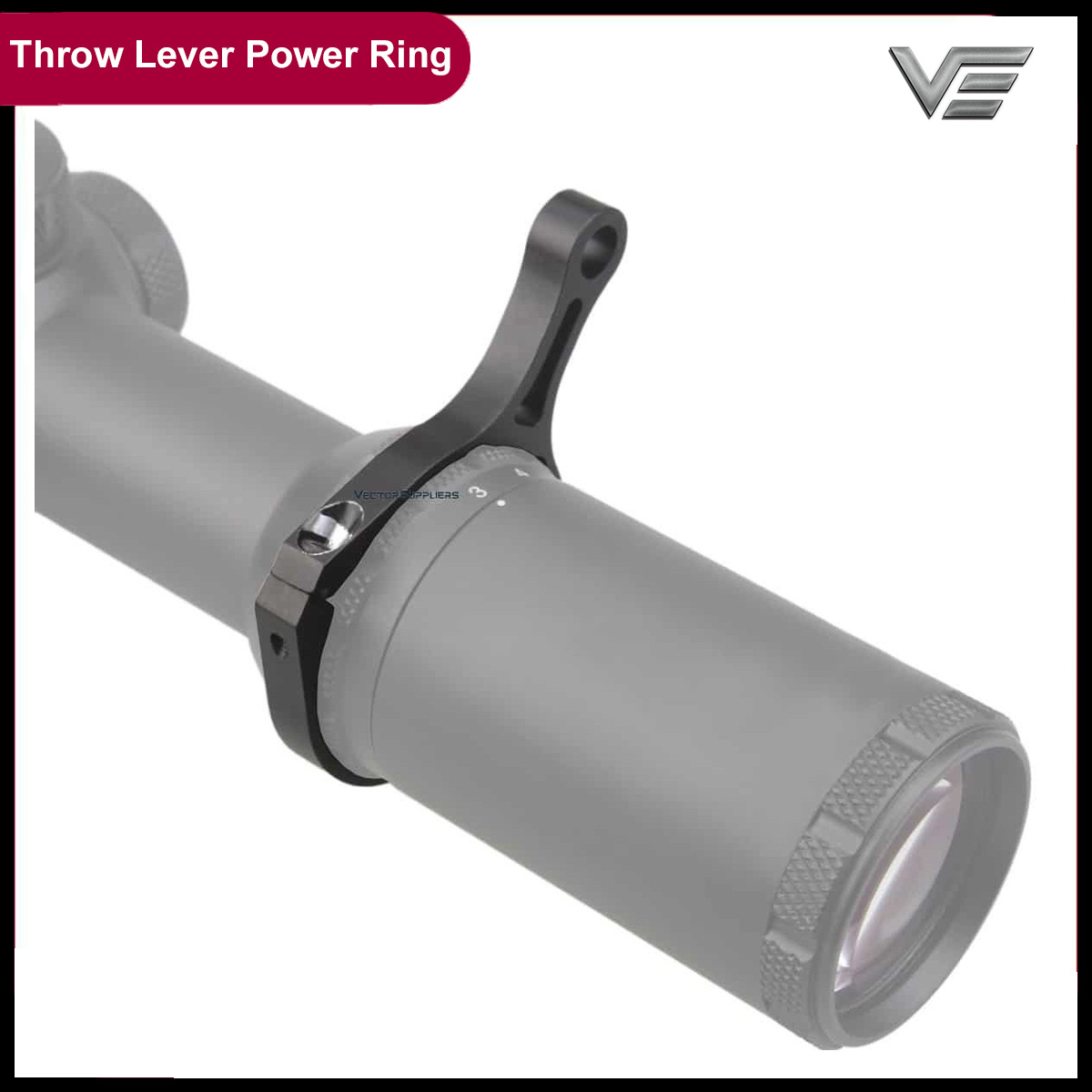 Vector Optics Riflescope Throw Lever Power Ring Fit For 44 Mm Dia. Scope Magnification