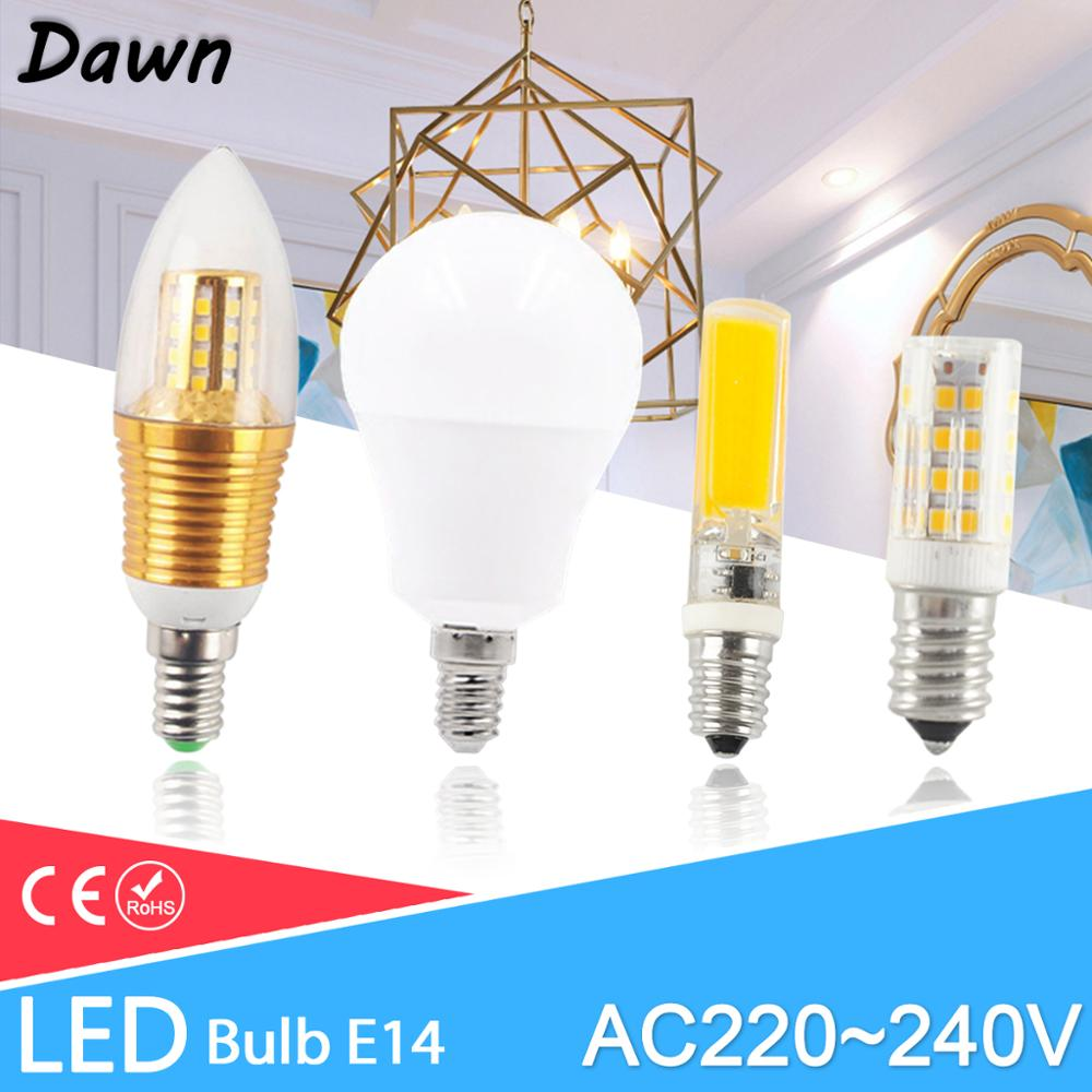 E14 LED Bulb 3W 6W 12W AC 220V LED Lamp E14 Light Lampada LED Spotlight Table Lamp Bombilla Candle Lamp For Home