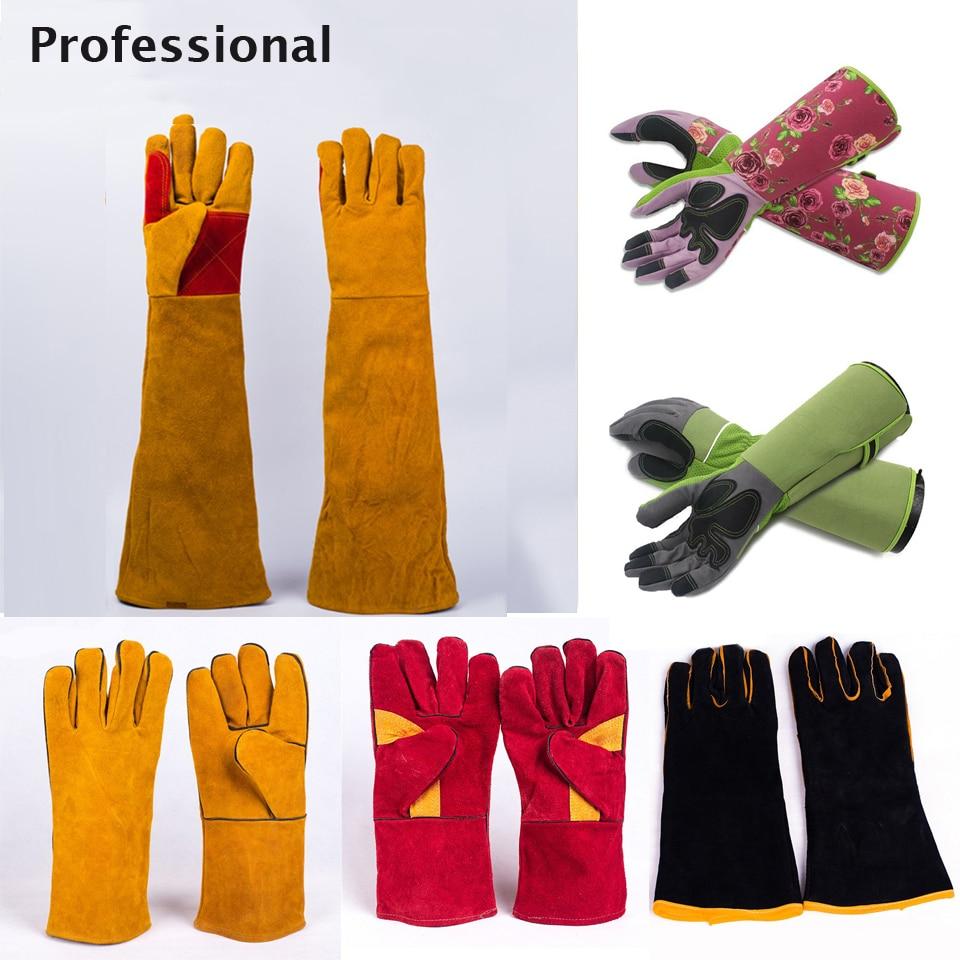 Long Sleeves Welding Gloves Wear-resistant Heat Resistant Stove Fire BBQ/Camping/Cook Working Gloves For Welders/Garden Kitchen