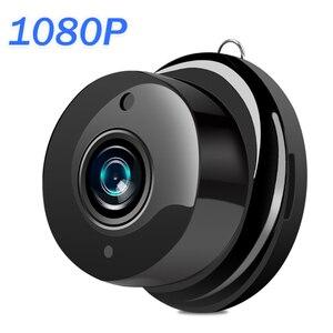 Image 1 - Mini caméra de surveillance IP WIFI Cloud hd 1080P, dispositif de sécurité sans fil, babyphone vidéo, avec Vision nocturne infrarouge, détection de mouvement et port SD