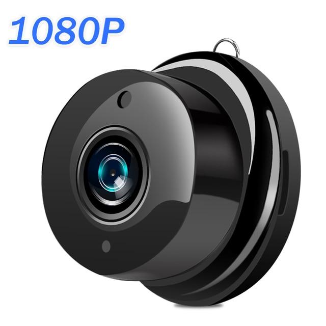 Mini caméra de surveillance IP WIFI Cloud hd 1080P, dispositif de sécurité sans fil, babyphone vidéo, avec Vision nocturne infrarouge, détection de mouvement et port SD